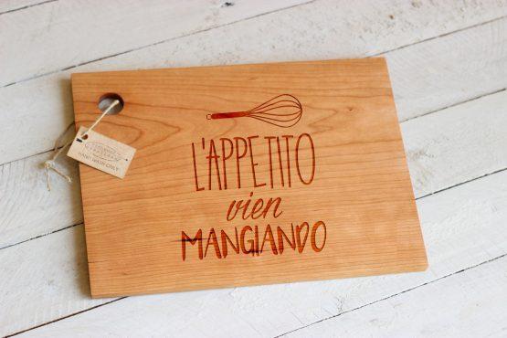 l'appetito vien mangiando cutting board